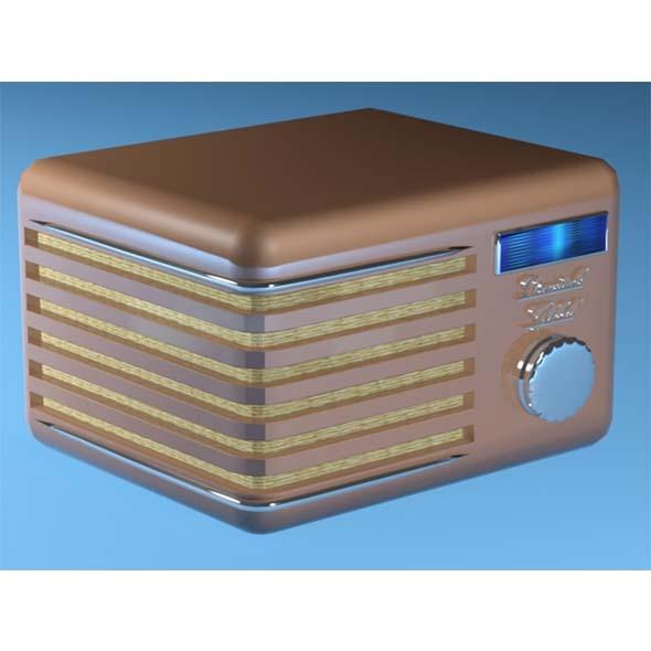 3DOcean Vintage Radio 11616225