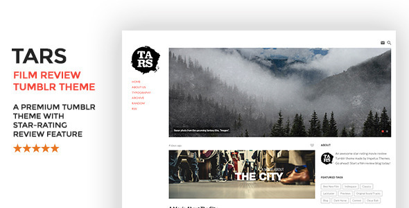 ThemeForest Tars Film Review Tumblr Theme 11585962