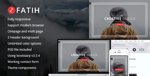 ThemeForest Fatih creative landing page template 11393341