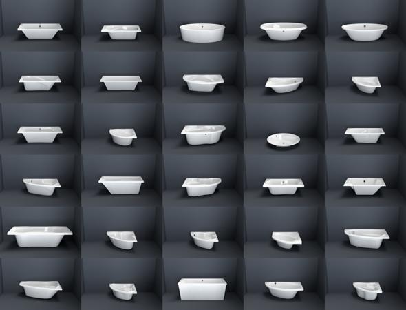 Bathroom Bathtubes collection volume 1 - 3DOcean Item for Sale