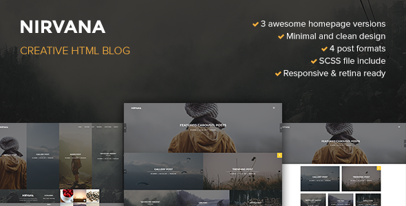 29. Nirvana Creative Blog Template