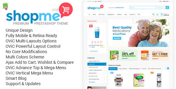 ThemeForest ShopMe Multi-Purpose Responsive Prestashop Theme 11667614