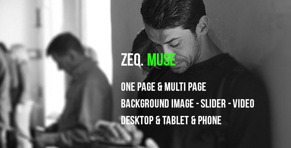 ThemeForest ZEQ Responsive Muse Template 11667697