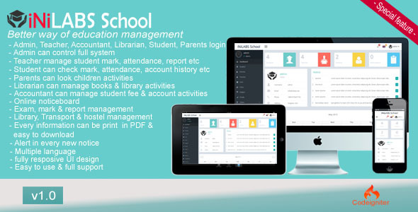 CodeCanyon Inilabs School Management System 11630340