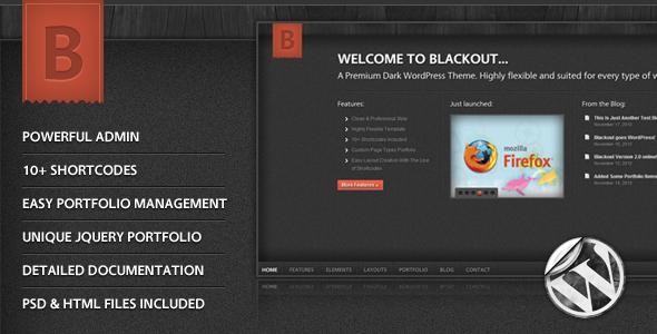 Blackout: A Premium Dark Wordpress Theme