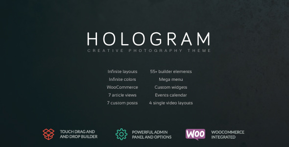 ThemeForest Hologram Creative Photography Theme 11580736