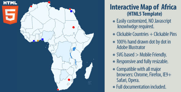 CodeCanyon Interactive Map of Africa 11669522