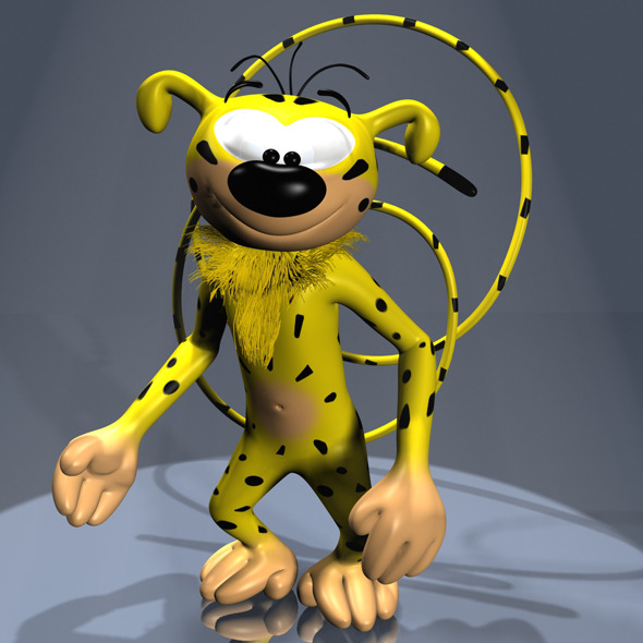 Marsupilami Character RIGGED - 3DOcean Item for Sale