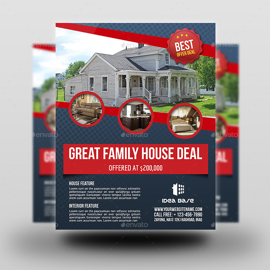 real estate flyer template vol by owpictures graphicriver real estate flyer template vol 12