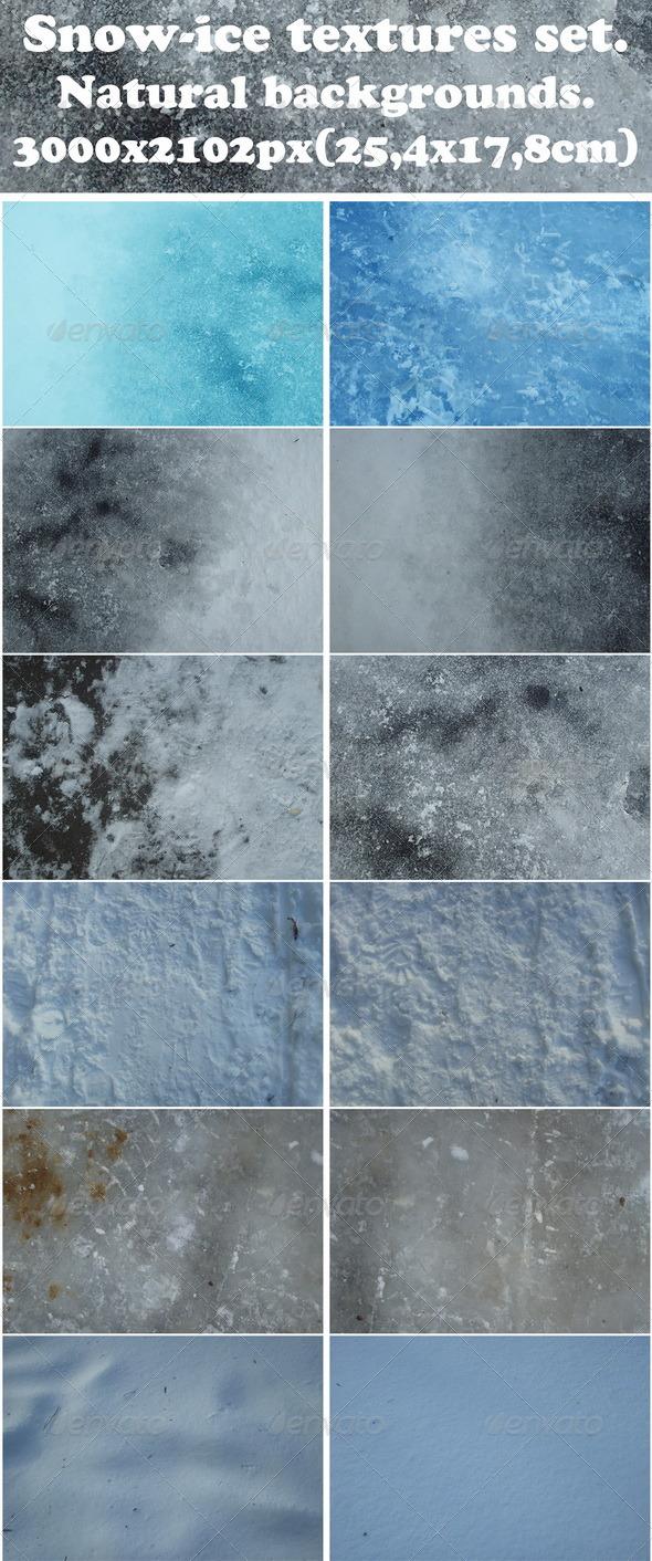 Snow-ice textures - Nature Textures