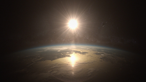 VideoHive Sunrise in Space Planet Earth 11672136