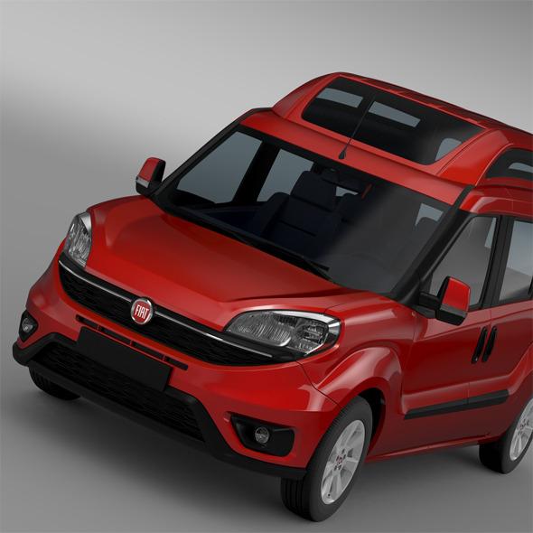 3DOcean Fiat Doblo HighRoof Maxi 263 2015 11672382