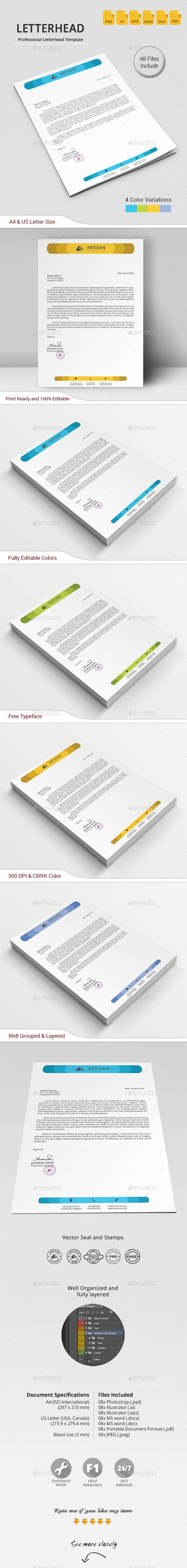 GraphicRiver Letterhead 11644687