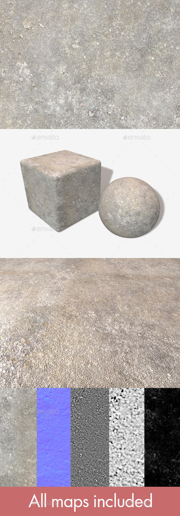 Concrete Seamless Texture - 3DOcean Item for Sale