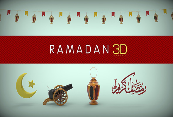 3DOcean Ramadan 3D models Package 11677277