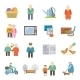 Pensioners Life Flat Icons Set  - GraphicRiver Item for Sale