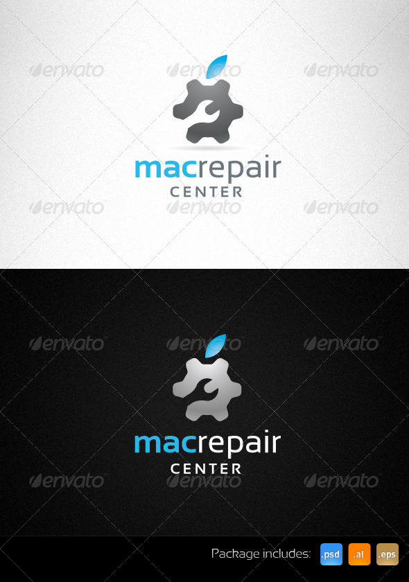 Mac Repair Center Creative Logo - Objects Logo Templates
