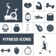 Fitness Icons Black Set  - GraphicRiver Item for Sale