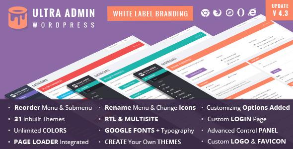 Material - White Label WordPress Admin Theme - 1