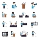 Public Speaking Icons Flat - GraphicRiver Item for Sale