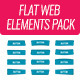 Flat Web Elements Pack - GraphicRiver Item for Sale