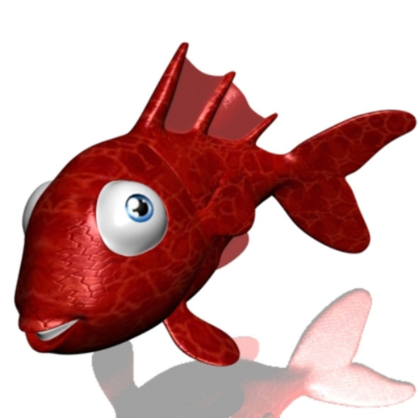 Cartoon Goldfish Rigged - 3DOcean Item for Sale