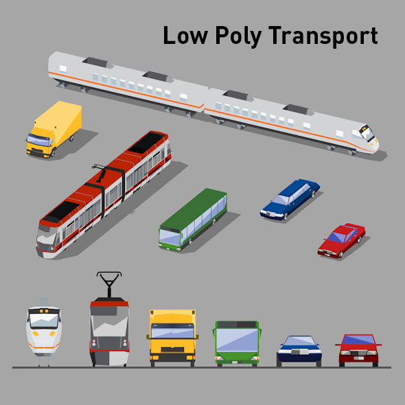 Low Poly Transport Vol.1 - 3DOcean Item for Sale