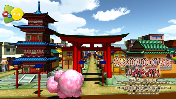 Kyoto City Japan Asset Pack - 3DOcean Item for Sale