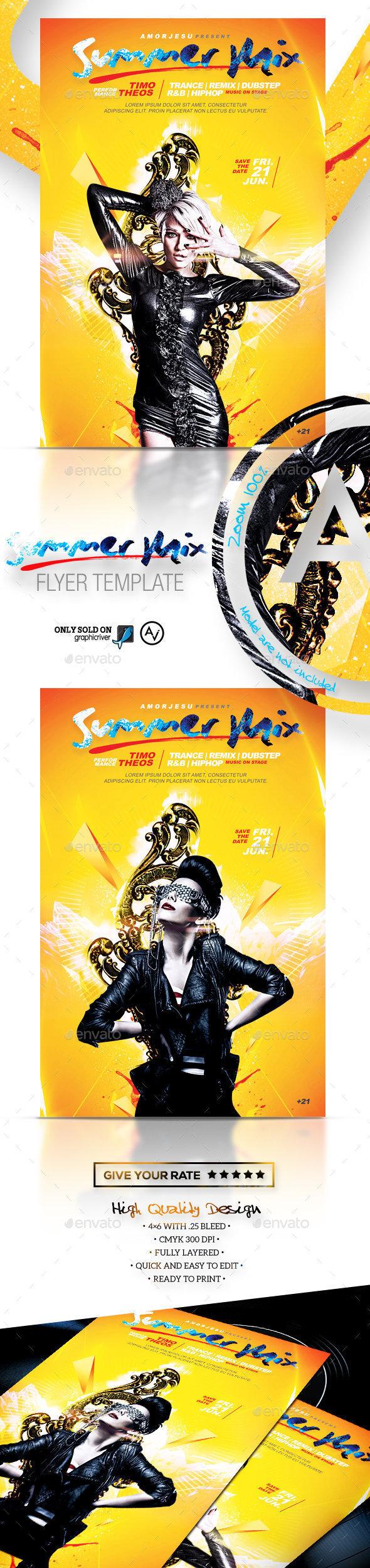 Summer Mix Flyer Template