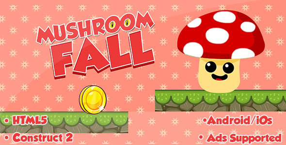CodeCanyon Mushroom Fall HTML5 Game 11683470