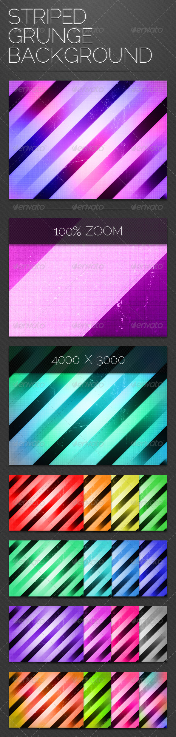 Striped Grunge Background - Abstract Backgrounds