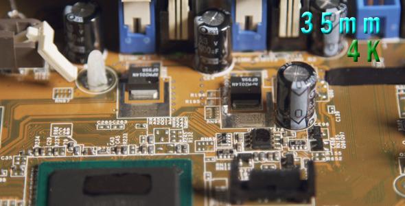 Yellow Computer Circuit Board 01