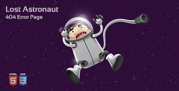 ThemeForest Lost Astronaut 404 Page 11684093