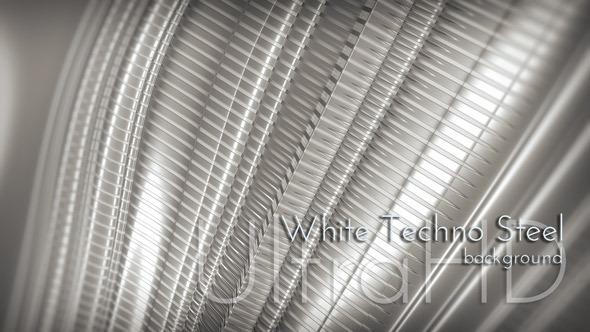 White Techno Steel Background