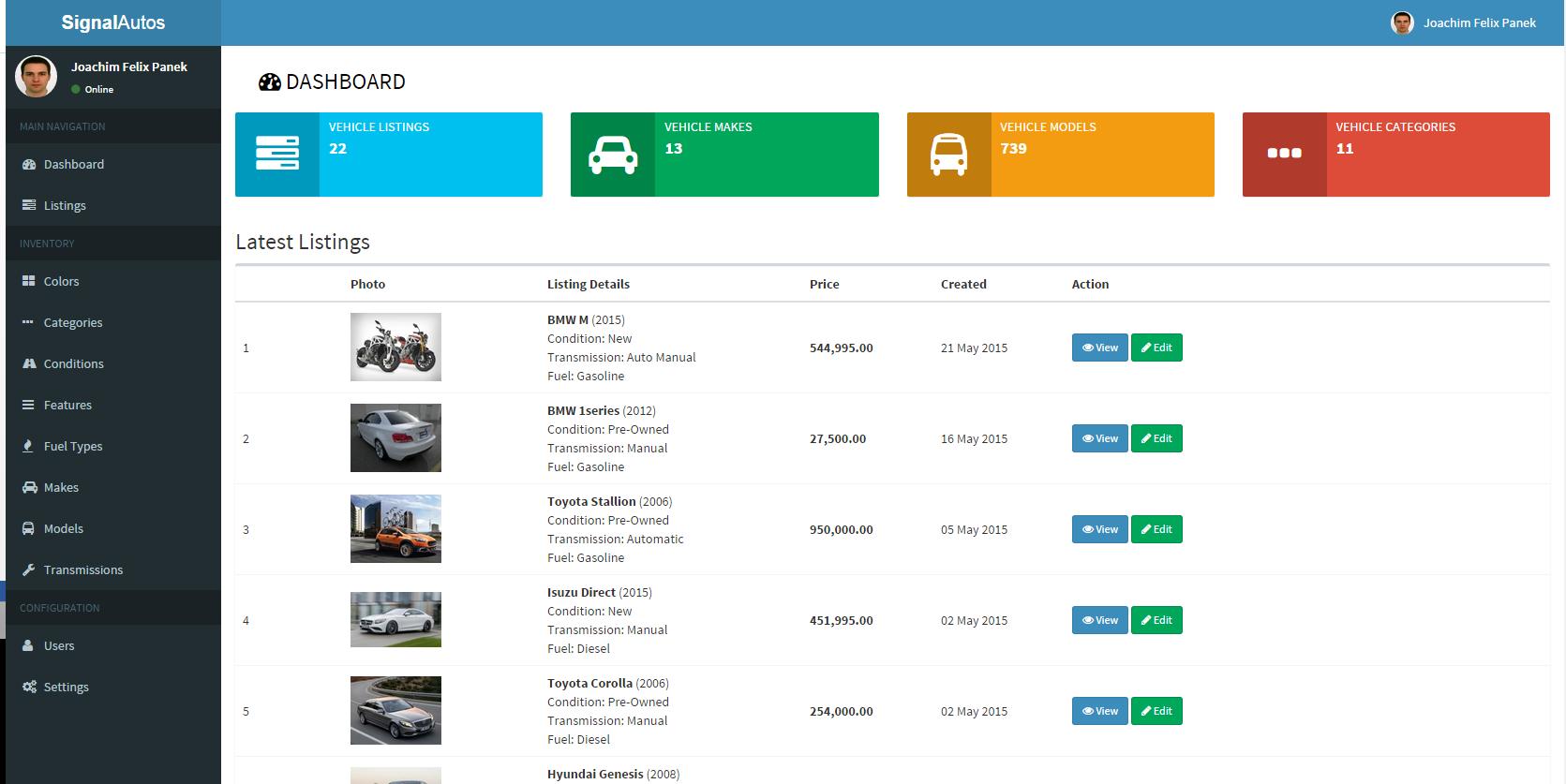 signal autos car dealership app by robisignals codecanyon. Black Bedroom Furniture Sets. Home Design Ideas
