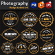 Photography Badge Labels v6 - GraphicRiver Item for Sale