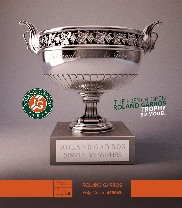 Roland Garros Trophy 3D Model