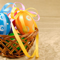 Easter eggs in basket - PhotoDune Item for Sale