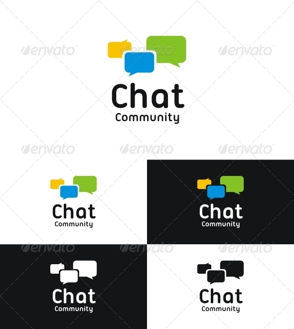Chat Community - Symbols Logo Templates