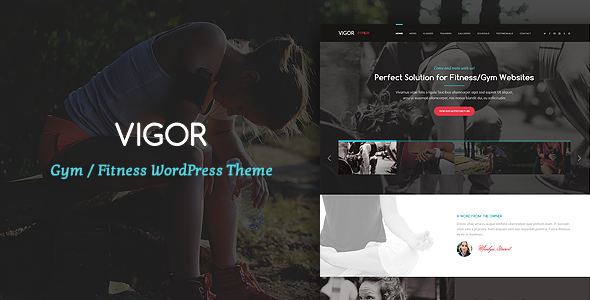 ThemeForest Vigor Gym Fitness WordPress Theme 11686124