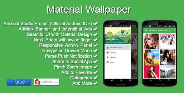 CodeCanyon Material Wallpaper 11637956
