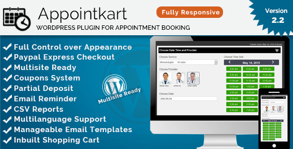 CodeCanyon Appointkart WP Responsive Appointment Booking 11262035
