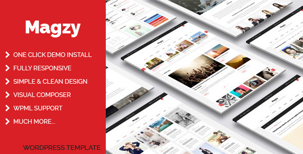ThemeForest Magzy Blog Magazine WordPress Theme 11690952