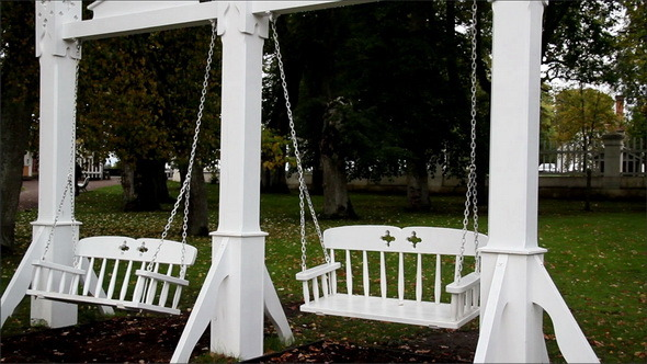 VideoHive Two Bench Swing Attached to its Pillar 11691251