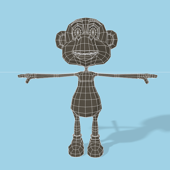 3DOcean Monkey mesh 11691450