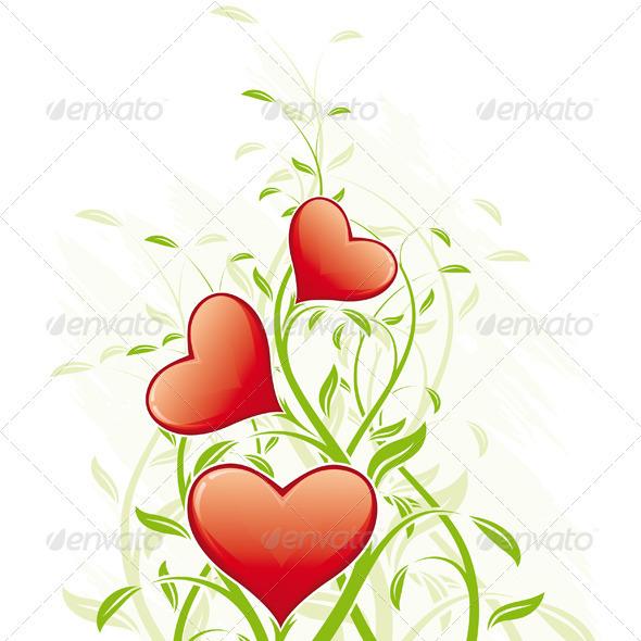 Abstract Valentine's Day Hearts - Valentines Seasons/Holidays