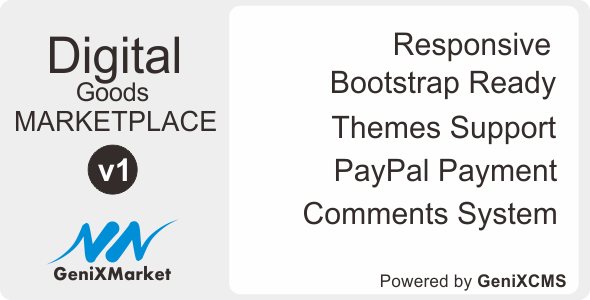 CodeCanyon Simple Digital Good Marketplace GeniXMarket DG 11693241