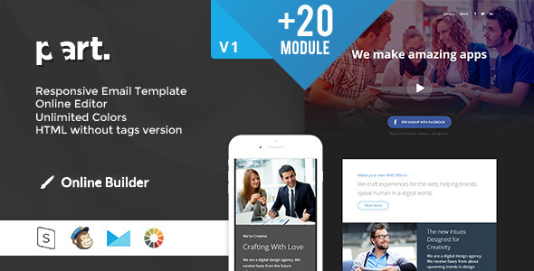 ThemeForest PART Modern Email Template & Online Access 11562396
