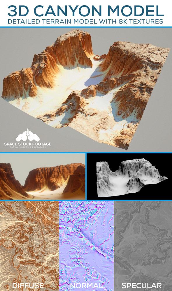 3DOcean Desert Canyon Terrain 11694201