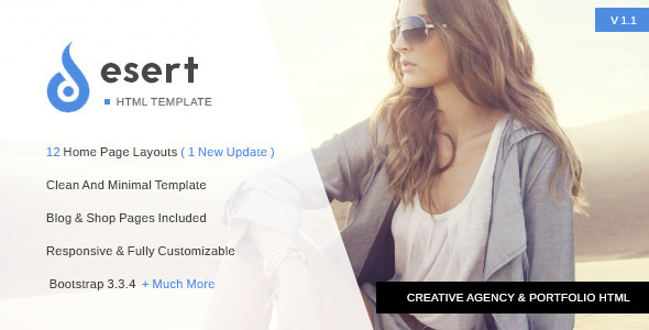 ThemeForest Desert Agency & Portfolio HTML Template 11581973